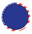 American label vector image