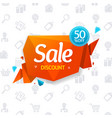 sale label abstract origami bubble speech and vector image