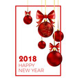 happy new year 2018 poster with congratulation and vector image