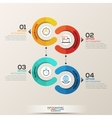 Infographics template circle concept vector image