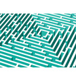 3d labyrinth vector image vector image