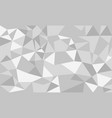 abstract low poly background white and gray vector image vector image