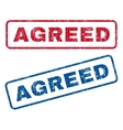 Agreed Rubber Stamps vector image vector image