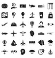 airport icons set simple style vector image vector image