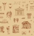 ancient greek seamless pattern with hand-drawn vector image