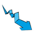 arrow business statistics vector image vector image