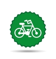 bicycle seal design vector image vector image