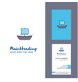 boat creative logo and business card vertical vector image vector image