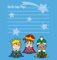 children dressed as wise men vector image vector image