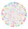 cogwheel fireworks round cluster vector image vector image