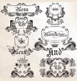 collection antique elements frames and swirls vector image