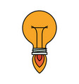 colorful silhouette of bulb light in shape of vector image vector image
