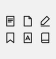 document icon line design book sign write vector image