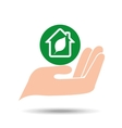 environment friendly concept green house vector image