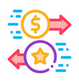 exchange bonuses for money icon outline vector image vector image
