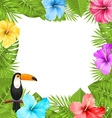 Exotic Jungle Frame with Toucan Bird Colorful vector image vector image
