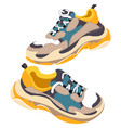 fashionable trendy sneakers for training vector image vector image