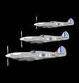 fighters on patrol vector image vector image