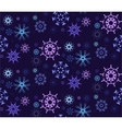 Figured Snowflakes Pattern vector image vector image