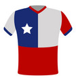 flag t-shirt of chile vector image vector image