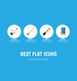 flat icon dacha set of tool grass-cutter vector image