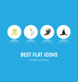 flat icon festival set of witch cap zombie vector image vector image
