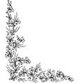 Floral vignette CCCLXXXIV vector image vector image