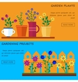 Flower shop Hello spring and summer vector image vector image