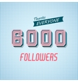 Followers Poster for Design 1 vector image vector image
