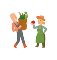 Garden harvest people character vector image vector image
