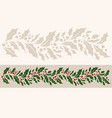 horizontal border seamless pattern with christmas vector image