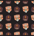 i love campfire badges pattern camping adventure vector image vector image