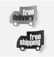 icons shipments and free delivery vector image vector image