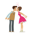 kiss love romance concept happy couple kissing vector image
