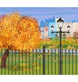 landscape of autumn city Park cityscape vector image