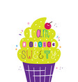 lettering children poster i am a little sweety vector image