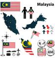 map malaysia vector image