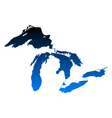 Map of Great Lakes vector image vector image
