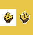 maple leaf and scarf logo icon sign isolated on vector image