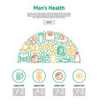 men health signs card vector image