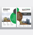 modern brochure design template vector image