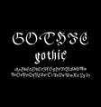 Modern Gothic Style Font Gothic letters