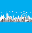 moscow city gradient 4 vector image