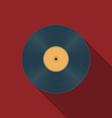 Music icons vinil v vector image