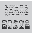 Mustache and intellectuals vector image