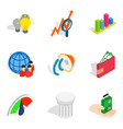 opinion icons set isometric style vector image vector image
