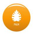 palm leaf icon orange vector image vector image