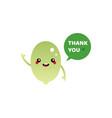 pumpkin seed character saying thank you vector image vector image
