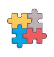 puzzle pieces game icon vector image