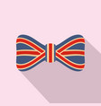 red blue bow tie icon flat style vector image
